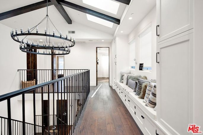Reading nook and skylights