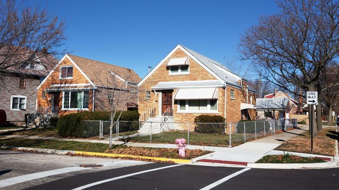 Brick bungalows in Ashburn
