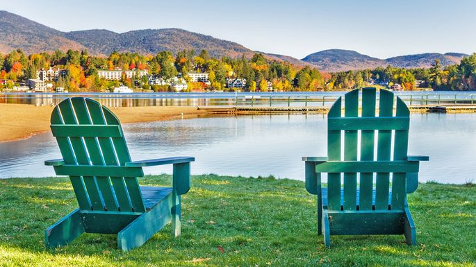 Adirondack chairs in their natural environment.