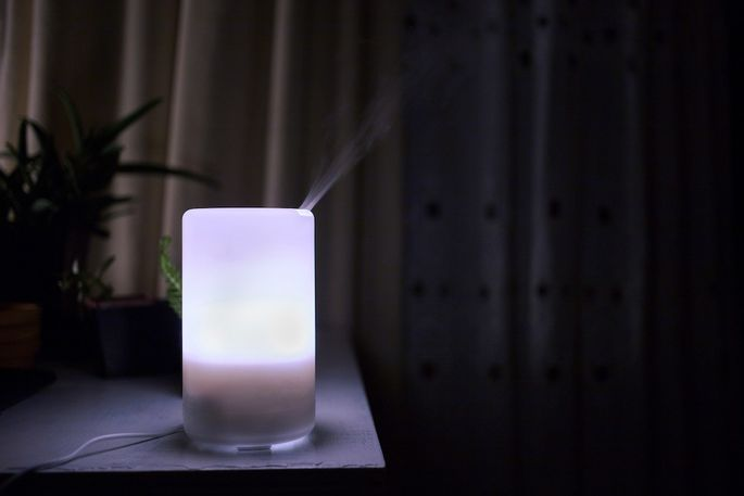 Use a diffuser to freshen the air in your bedroom before you go to sleep.
