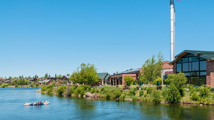 Old Mill District, Deschutes River in Bend, OR