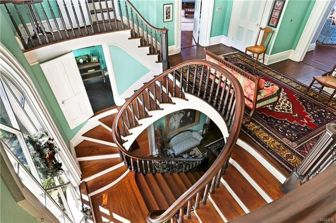The home's staircase