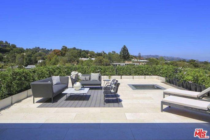 Master suite's private terrace