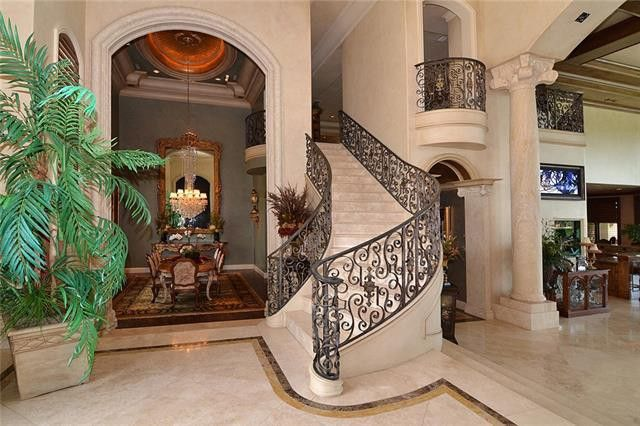 Foyer with historic mirror imported from Italy
