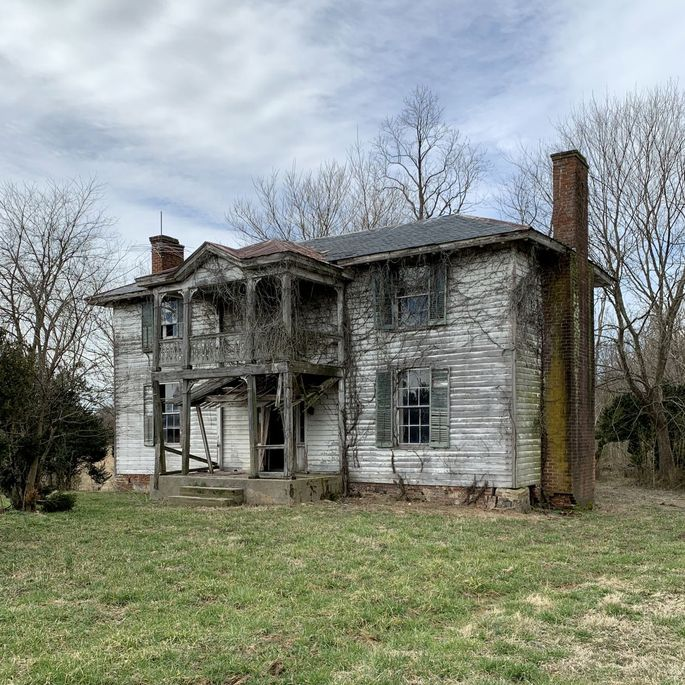 A 19th-century house in Virginia where Craig Jacobs found wood to reclaim.