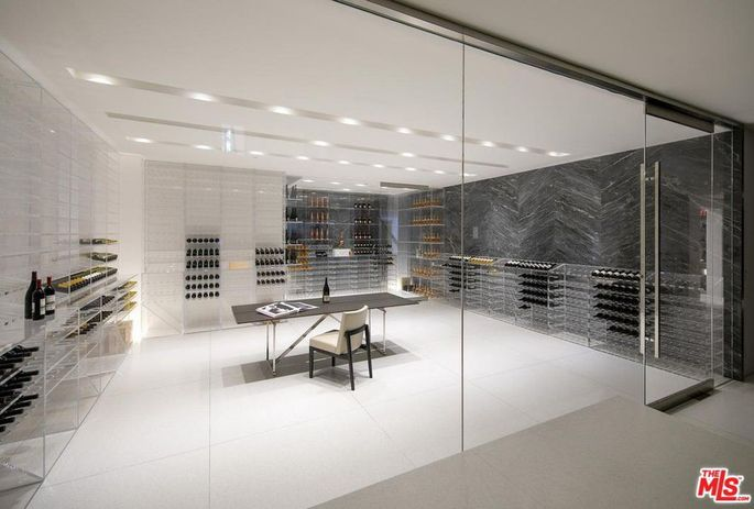 3,400-bottle wine room