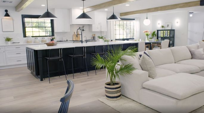 This bigger island makes the kitchen feel brand-new.