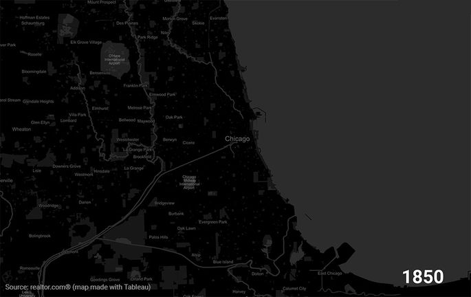 Watch the Revival Twice of Chicago in This Animated Map realtor