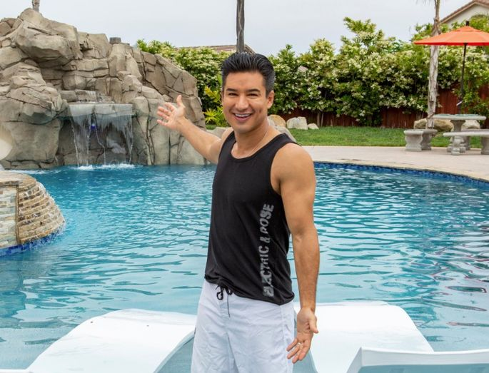 "Mario Lopez gives backyards a face-lift on the new HGTV series ""Supersize My Pool."""