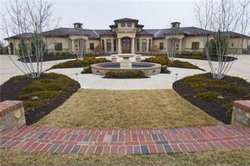 Front view of estate home.