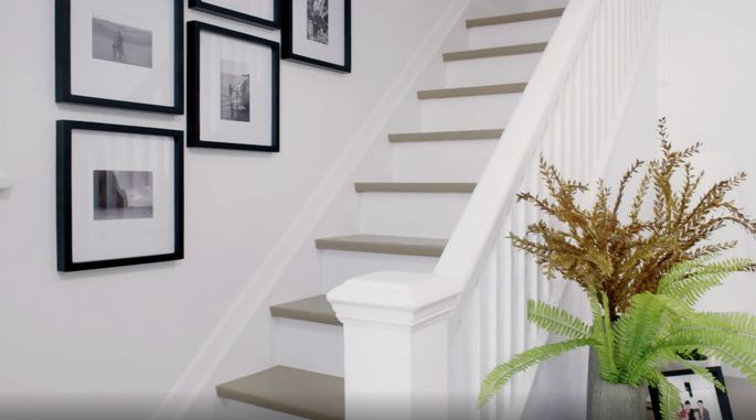 These lighter stairs look fresh and modern.