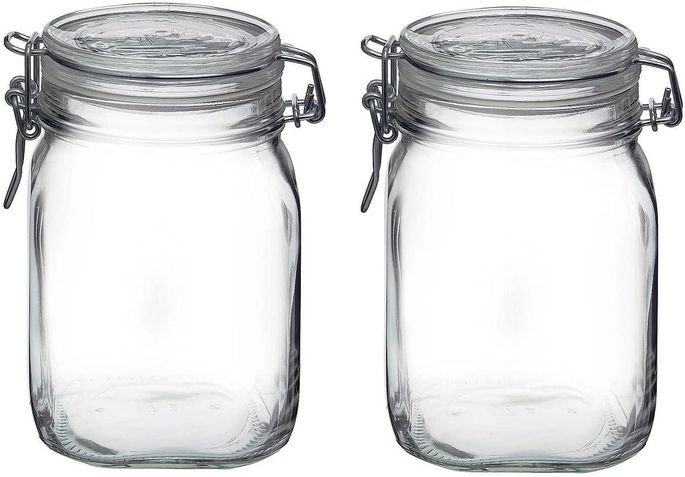 Canning jars can be used to store anything from dry goods to leftovers.
