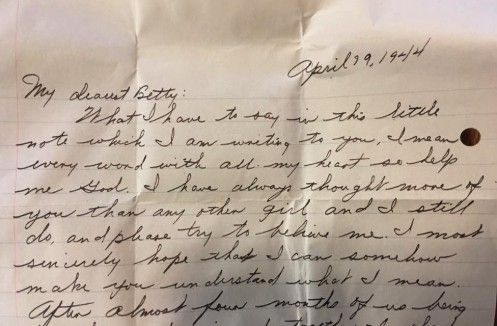 A love letter found within the walls of a house