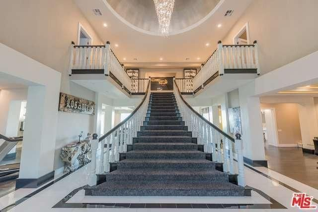 Grand staircase in Malibuhome