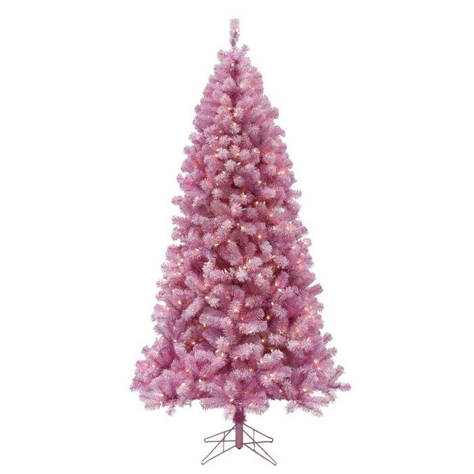 A pink tree is on trend this year.