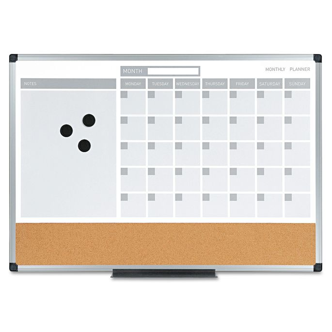 A wall calendar helps you keep tabs on deadlines and to-do lists.