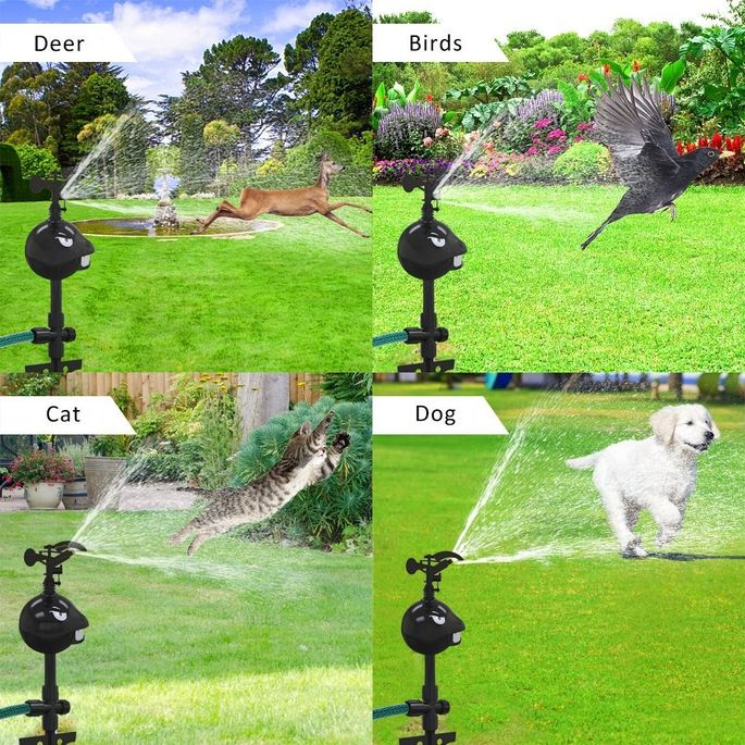 This adjustable sprinkler will keep animals from lingering on your lawn.
