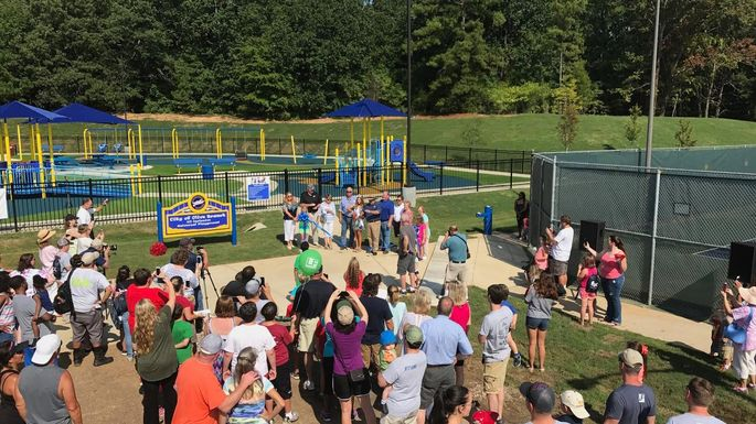 Playground grand opening our City Park in Olive Branch