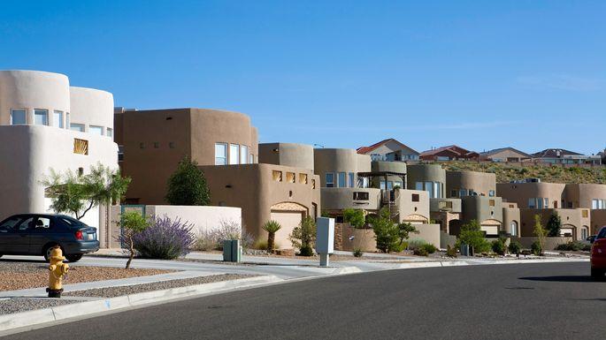 Modern adobe homes in Albuquerque