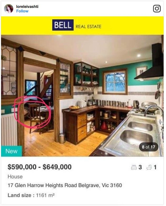 A toddler photo-bombed this real estate photo.