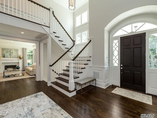 Foyer with soaring ceilings