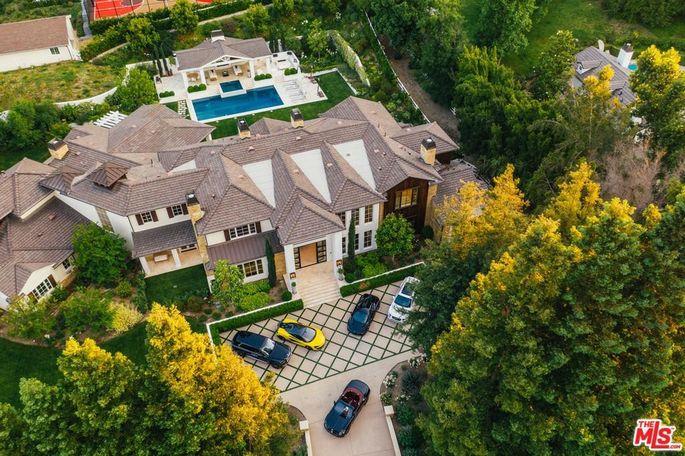 The Weeknd lists his Hidden Hills, CA, home.