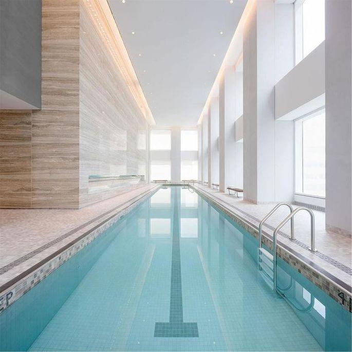 75-foot indoor swimming pool