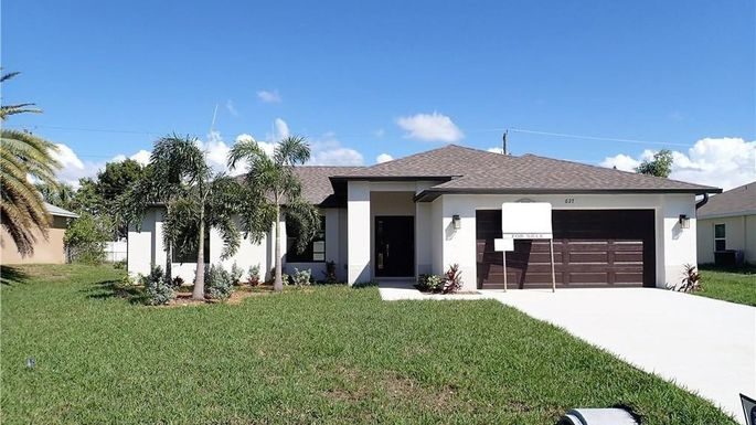 New three-bedroom home in Cape Coral, FL