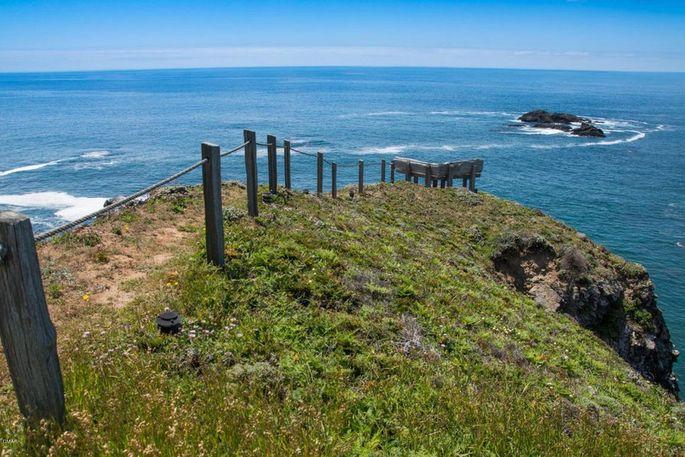 Coastal trail on the property
