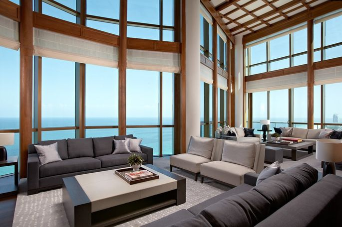 Interior of a luxury home in Fort Lauderdale area of Florida that was built by Marker Construction Group.