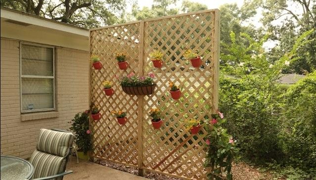 this super cute trellis pulls double duty for plants and privacy - Trellis Ideas