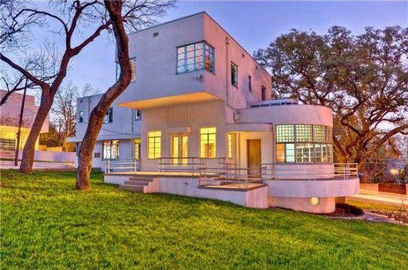 Extraordinary Art Moderne Bohn House For Sale In Texas