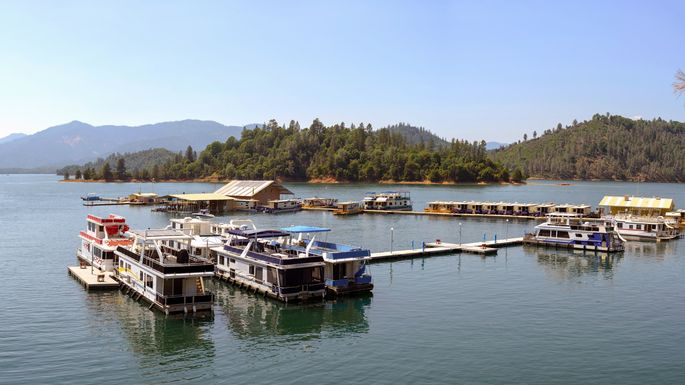 Shasta Lake, a popular location for Redding, CA, residents