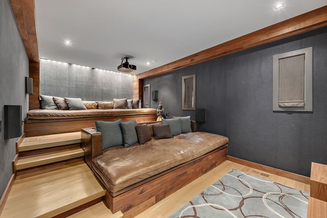 Home theater in NY home of Equinox co-founder