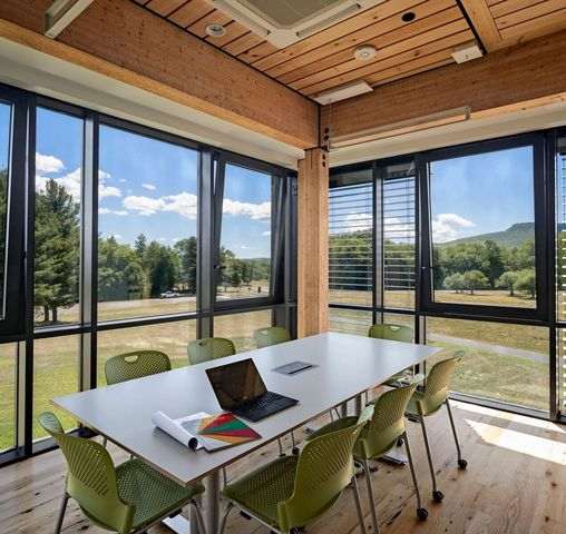 Windows allow for natural light and bring the outdoors in.