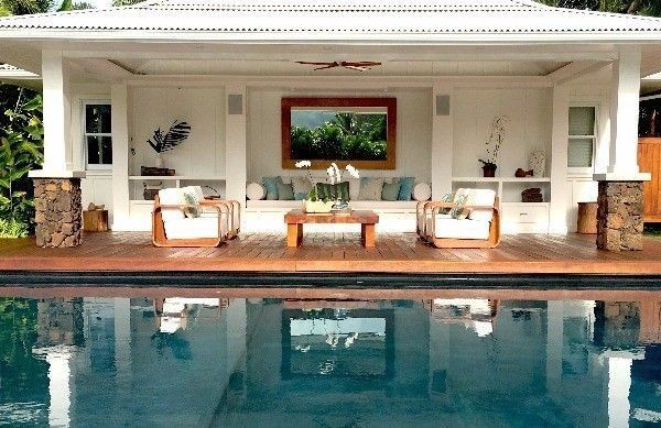 A view of the home's pool.