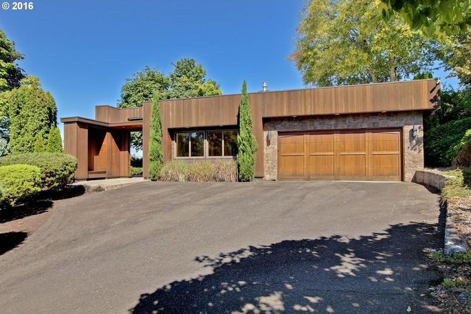 Stone and mahogany exterior
