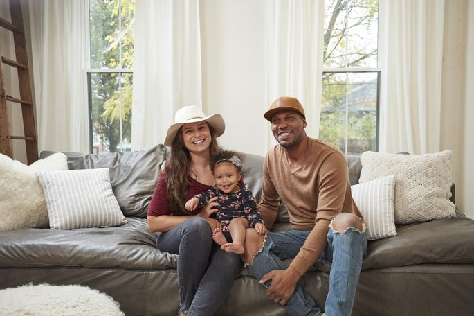Catherine and Bryan Williamson, both 34, with their 11-month-old daughter, Bianca. The couple bought a Victorian home to renovate in the Olde Towne East neighborhood of Columbus for $152,000 in 2017.
