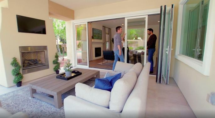 These doors really help to create that indoor-outdoor flow.