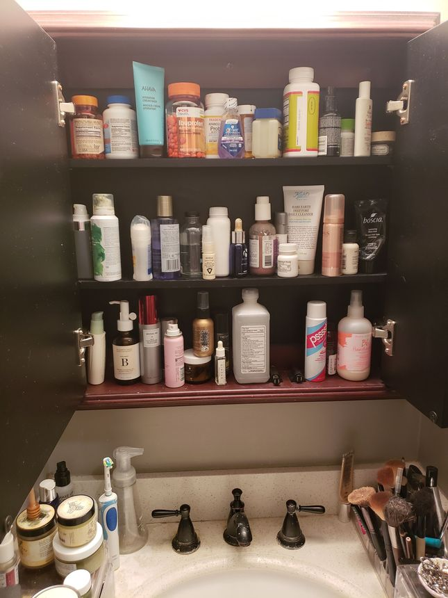 For all I know my fiancée is running a cosmetics business out of our house.