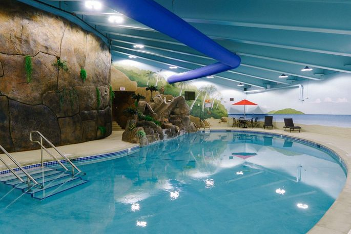 Survival Condo, based in Glasco, Kan., offers many leisure activities including a pool.