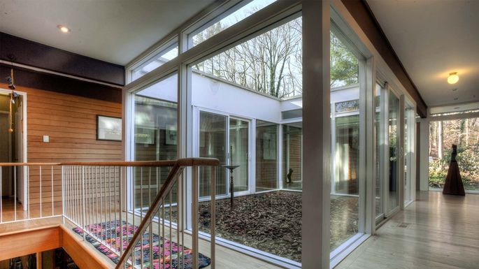 Typical Floor To Ceiling Windows In A Mid Century Modern Home.