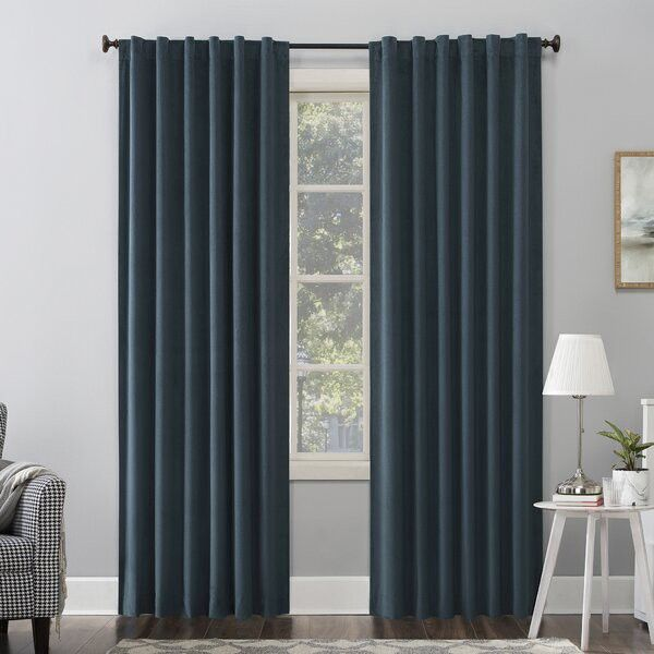 Blackout curtains keep noise and sound out so your sleep isn't disturbed.