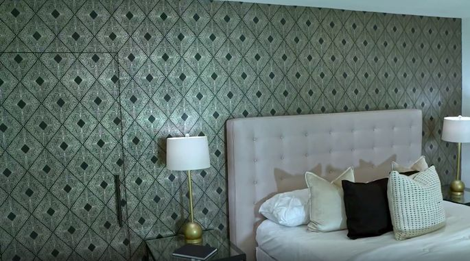 This accent wall may be a hit for some, but it's not everyone's style.
