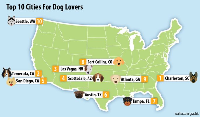 Top DogFriendly Cities Realtorcom - Dog ownership us map