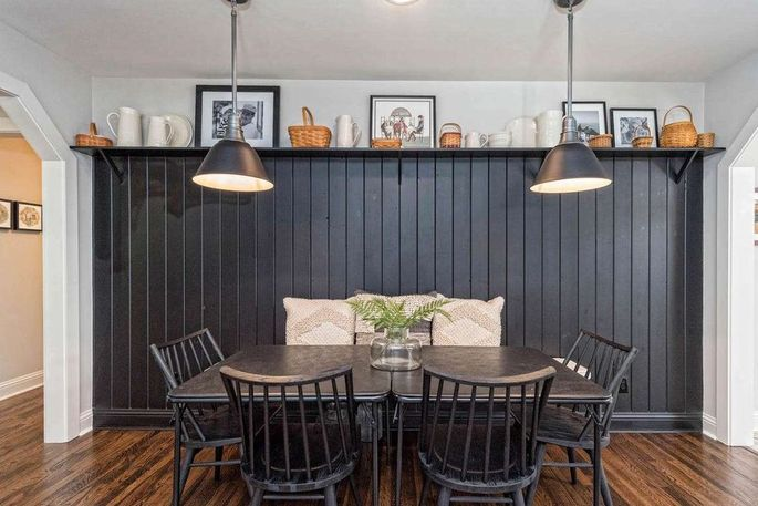 The dining room (with shiplap of course)