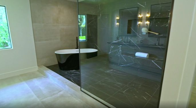 Legacy and Patricia did a great job—this bathroom is stunning!