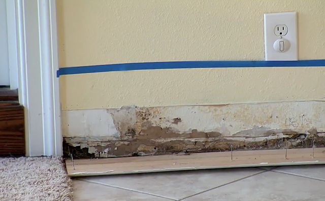fe0517877 Flip or Flop Christina and Tarek El Moussa find mold in all the floorboards.