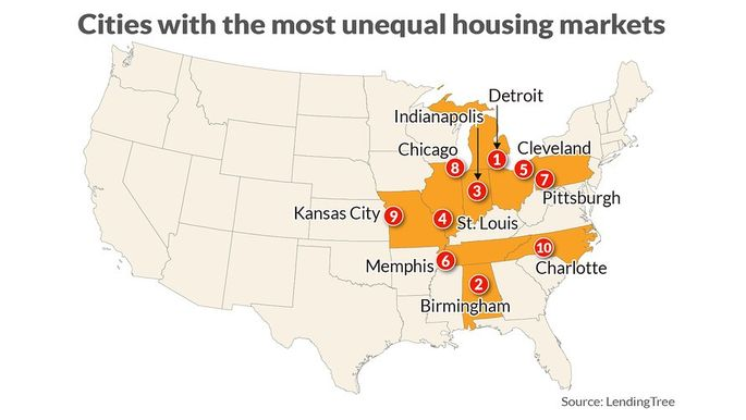A look at the most unequal housing markets in America.