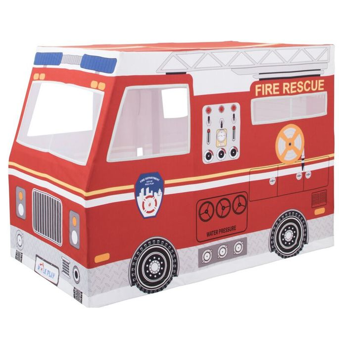 Sound the alarm! A fire truck tent is a red hot idea.